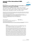 """báo cáo hóa học:"""" Brazilian Network for HIV Drug Resistance Surveillance: a survey of individuals recently diagnosed with HIV"""""""