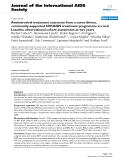 """báo cáo hóa học:"""" Antiretroviral treatment outcomes from a nurse-driven, community-supported HIV/AIDS treatment programme in rural Lesotho: observational cohort assessment at two years"""""""