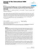 "báo cáo hóa học:""  Putting episodic disability into context: a qualitative study exploring factors that influence disability experienced by adults living with HIV/AIDS"""