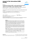 """báo cáo hóa học:""""  Variables that influence HIV-1 cerebrospinal fluid viral load in cryptococcal meningitis: a linear regression analysis"""""""