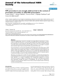 """báo cáo hóa học:""""  HIV prevention is not enough: child survival in the context of prevention of mother to child HIV transmission"""""""