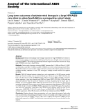"""báo cáo hóa học:""""  Long term outcomes of antiretroviral therapy in a large HIV/AIDS care clinic in urban South Africa: a prospective cohort study"""""""