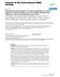 "báo cáo hóa học:"" Development and evaluation of a clinical algorithm to monitor patients on antiretrovirals in resource-limited settings using adherence, clinical and CD4 cell count criteria"""