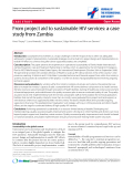 """báo cáo hóa học:""""  From project aid to sustainable HIV services: a case study from Zambia"""""""