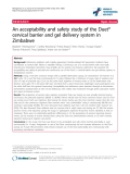"""báo cáo hóa học:"""" An acceptability and safety study of the Duet® cervical barrier and gel delivery system in Zimbabwe"""""""