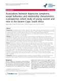 "báo cáo hóa học:"" Associations between depressive symptoms, sexual behaviour and relationship characteristics: a prospective cohort study of young women and men in the Eastern Cape, South Africa"""