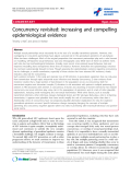 """báo cáo hóa học:"""" Concurrency revisited: increasing and compelling epidemiological evidence"""""""