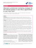 """báo cáo hóa học:""""  Alternative antiretroviral monitoring strategies for HIV-infected patients in east Africa: opportunities to save more lives?"""""""