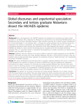 "báo cáo hóa học:"" Global discourses and experiential speculation: Secondary and tertiary graduate Malawians dissect the HIV/AIDS epidemic"""