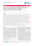 """báo cáo hóa học:""""  Access to safe abortion: building choices for women living with HIV and AIDS"""""""