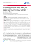 """báo cáo hóa học:"""" A biregional survey and review of first-line treatment failure and second-line paediatric antiretroviral access and use in Asia and southern Africa"""""""