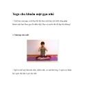 Yoga cho khuôn mặt gọn nhỏ-