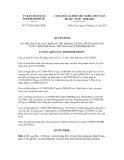 Quyết định số 75/2011/QĐ-UBND