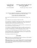Quyết định số 33/2011/QĐ-UBND