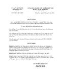 Quyết định số 73/2011/QĐ-UBND