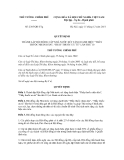 Quyết định số 2385/QĐ-TTg