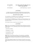 Quyết định số 2962/QĐ-BTC