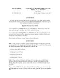 Quyết định số 3060/QĐ-BTC