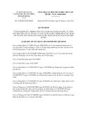 Quyết định số 1244/QĐ-SXD-KHĐT