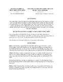 Quyết định số 3125/QĐ-BNN-KHCN
