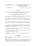 Quyết định số 2839/QĐ-BGTVT