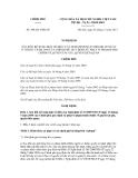 Nghị định số 109/2011/NĐ-CP