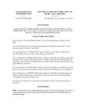 Quyết định số 58/2011/QĐ-UBND