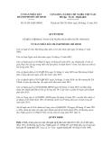 Quyết định số 93/2011/QĐ-UBND