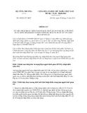 Thông tư số 44/2011/TT-BCT