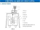 Bài giảng các quá trình cơ học - Chương 13: Khuấy chất lỏng