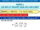 Bài giảng các quá trình cơ học - Chương 1 : Cơ sở lý thuyết của lưu chất