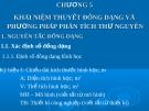 Bài giảng các quá trình cơ học - Chương 5: Khái niệm thuyết đông dạng và phương pháp phân tích thư nguyên