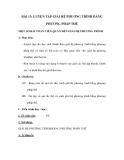 Giải hệ phương trình bằng phương pháp thế - Luyện tập môn Toán