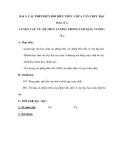 BÀI 2: CÁC PHÉP BIẾN ĐỔI BIỂU THỨC CHỨA CĂN THỨC BẬC HAI