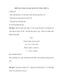 TIẾP TỤC GIẢI CÁC BÀI TOÁN VỀ TỈ SỐ ( TIẾT 1)