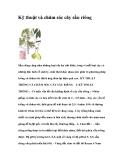 Kỹ thuật và chăm sóc cây sầu riêng