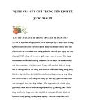 VỊ TRÍ CỦA CÂY CHÈ TRONG NỀN KINH TẾ QUỐC DÂN (P1)I.
