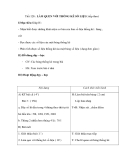 Tiết 128 : LÀM QUEN VỚI THỐNG KÊ SỐ LIỆU( tiếp theo)