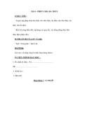 Tiết 8 : PHÉP CHIA ĐA THỨC