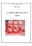 Tiểu luận: Triết học Mac Lênin về con người - Nguyễn Minh Lợi