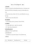 Tiết 30 ÔN TẬP HỌC KÌ I(tiết 1)