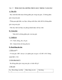 Tiết 57 TÍNH CHẤT BA ĐƯỜNG PHÂN GIÁC TRONG TAM GIÁC