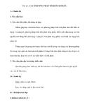 Tiết 62 : CÁC PHƯƠNG PHÁP TÍNH TÍCH PHÂN