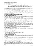 Hướng dẫn ôn tập thi tốt nghiệp môn Ngữ Văn 12