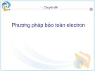 Chuyên đề:Phương pháp bảo toàn electron.