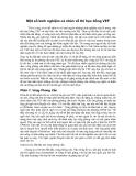 Một số kinh nghiệm cá nhân về thi học bổng VEFT