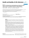 "báo cáo hóa học:""  Impact of schizophrenia and schizophrenia treatment-related adverse events on quality of life: direct utility elicitation"""