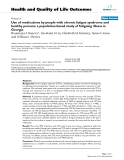 """báo cáo hóa học:""""  Use of medications by people with chronic fatigue syndrome and healthy persons: a population-based study of fatiguing illness in Georgia"""""""