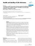 """báo cáo hóa học:"""" Testing a model of association between patient identified problems and responses to global measures of health in low back pain patients: a prospective study"""""""