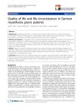 "báo cáo hóa học:""  Quality of life and life circumstances in German myasthenia gravis patients"""